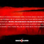 【Back4Blood】リリース日が延期!ベータテストはいつ?